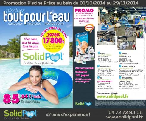 Promotion construction Piscine Prête au bain 2014 dans 6 magasins du 01/10/2014 au 29/11/2014 avec SolidPOOL®