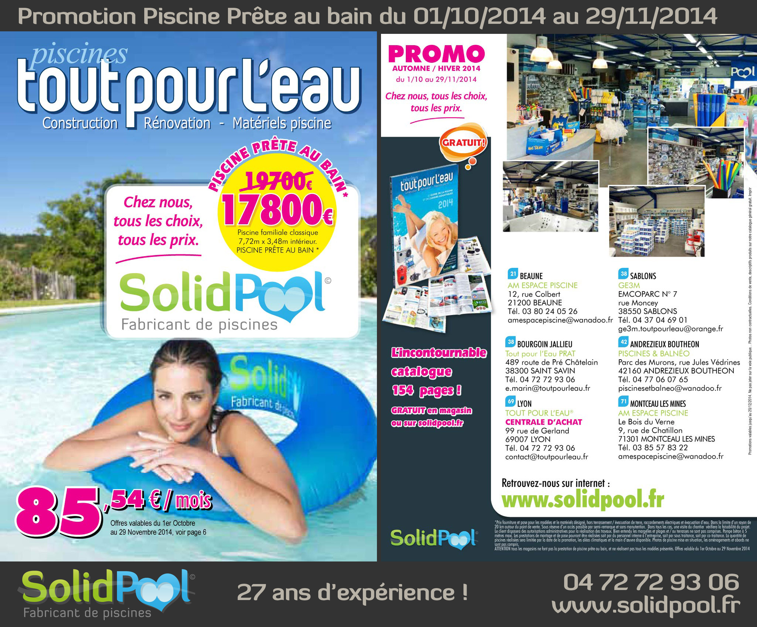Promotion piscine for Promotion cash piscine